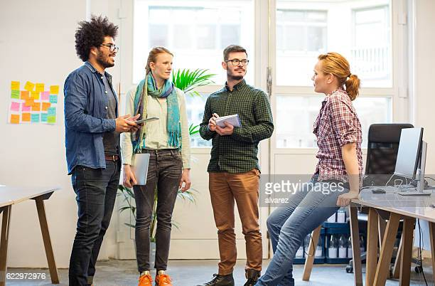 Creative professional having a meeting