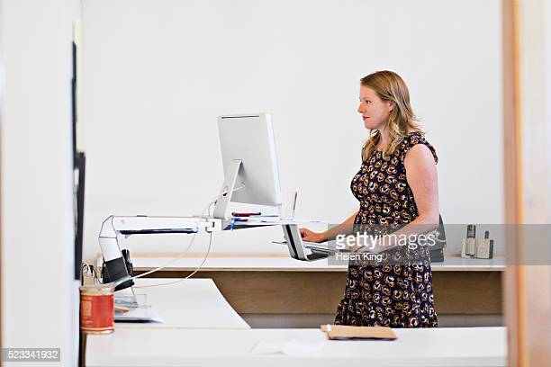 Creative professional working in office
