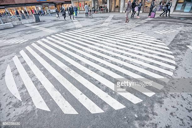 Creative road markings in Stockholm