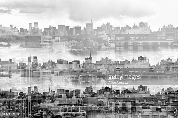Creative Skyline View of New York City