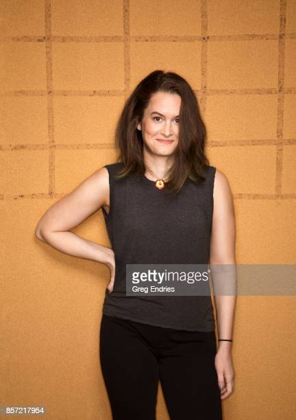 Writer Melinda Taub photographed for Emmy Magazine on March 2 in New York City