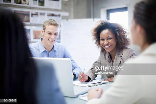 Creative team having meeting in office