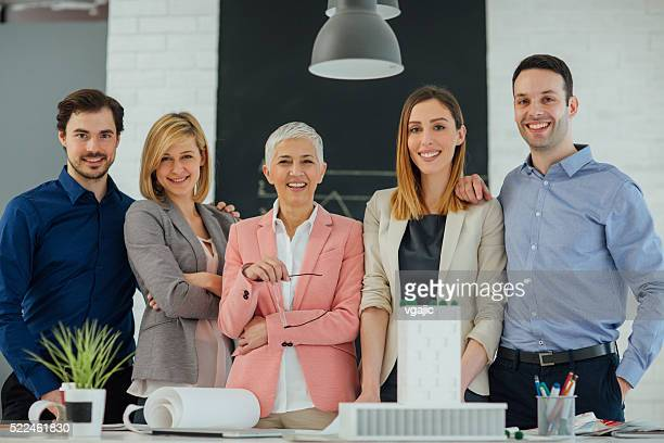 creative team in their office. - five people stock pictures, royalty-free photos & images