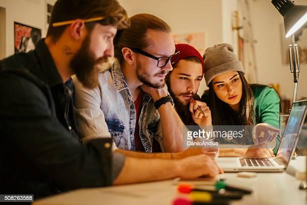 creative team of designers working togheter
