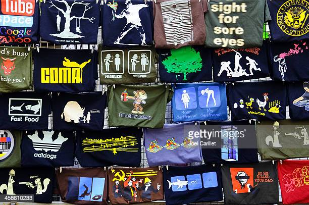 creative t-shirts in bangkok, thailand - graphic t shirt stock pictures, royalty-free photos & images