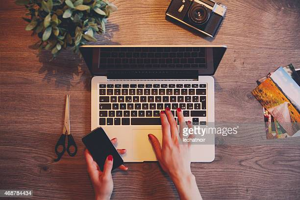 creative workspace - touchpad stock pictures, royalty-free photos & images