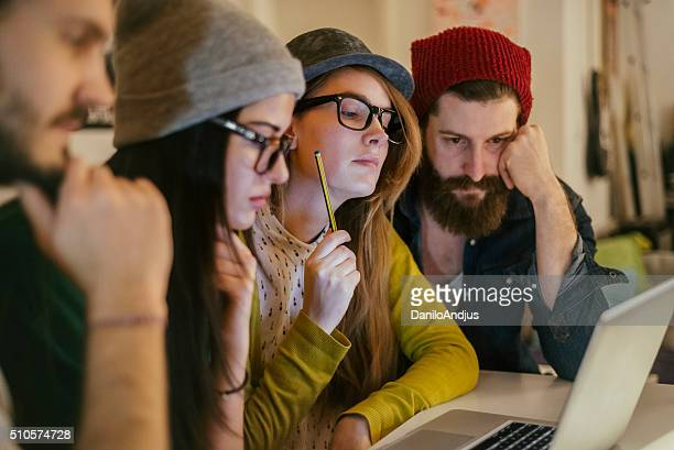 creative young group of coworkers working togheter