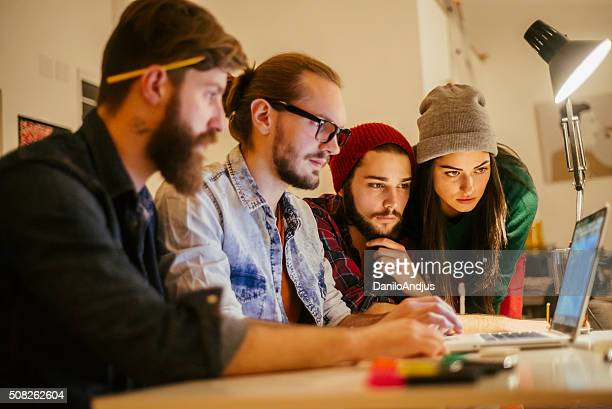 creative young group of designers working togheter