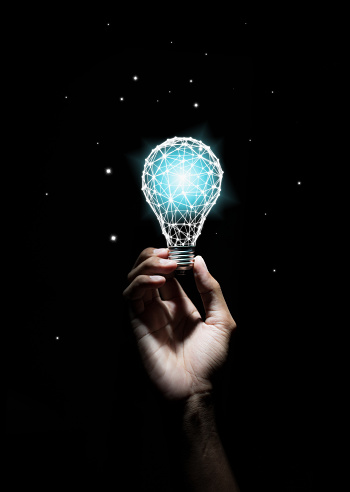 Creativity and innovative are keys to success.Concept of new idea and innovation with light bulbs. 1007367156