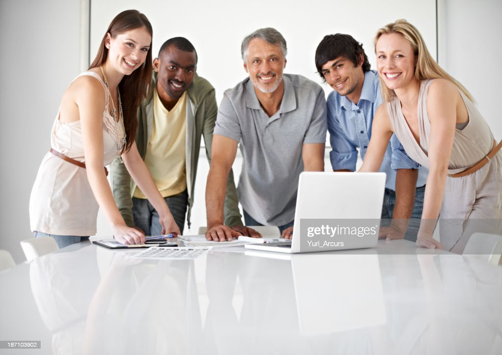 Creativity and teamwork are the foundation of their business! : Stock Photo