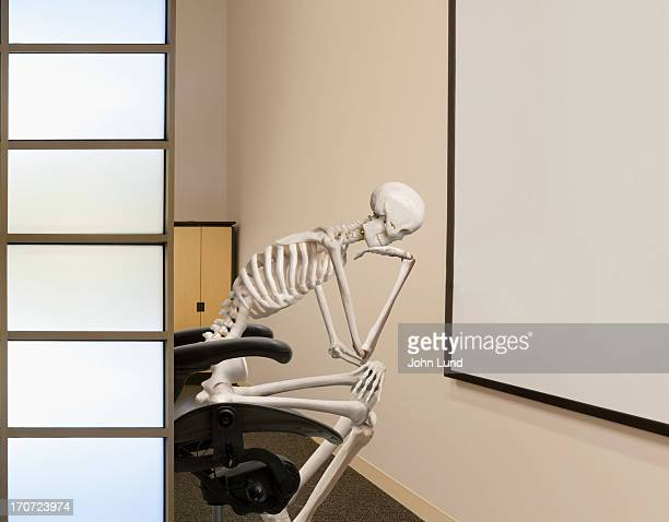 creativity block - funny skeleton stock photos and pictures