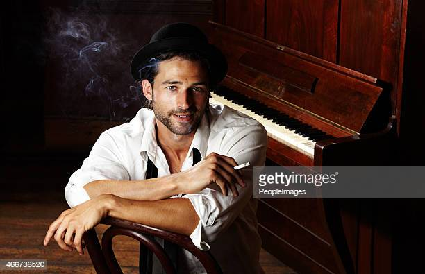 creativity comes easy to this musician - pianist front stock pictures, royalty-free photos & images
