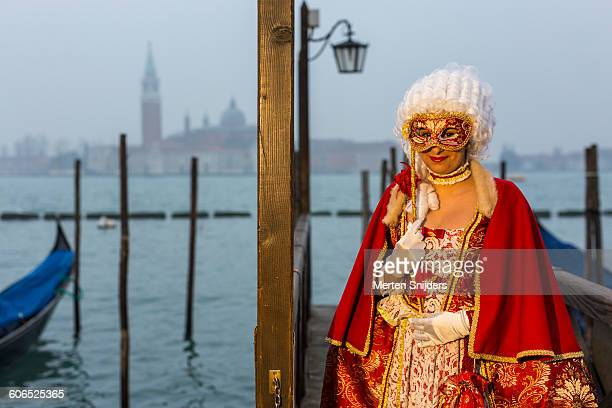 creativity in venice carnival costumes and acts - gondola traditional boat stock pictures, royalty-free photos & images