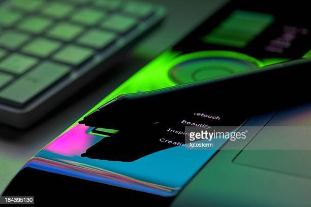 Kreativität und Inspiration, Schönheit und Auffrischung auf Tablet PC