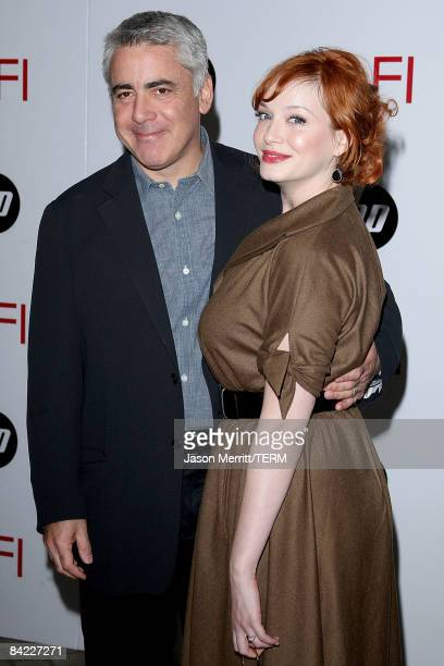 Creator Adam Larkin and actress Christina Hendricks arrive at the AFI Awards 2008 held at the Four Seasons Hotel on January 9, 2009 in Los Angeles,...