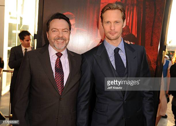 Creator Alan Ball and actor Alexander Skarsgaard arrive at the HBO Premiere of True Blood Season 4 at ArcLight Cinemas Cinerama Dome on June 21 2011...