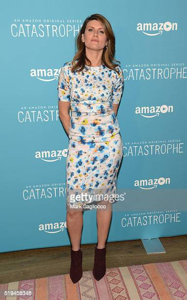 Creator and actress Sharon Horgan attends 'Catastrophe' New York Screening at Crosby Street Hotel on April 6 2016 in New York City