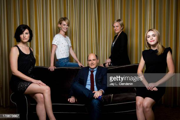 Creator and actresses of AMC's Mad Men Elisabeth Moss January Jones Jessica Pare Matthew Weiner Kiernan Shipka are photographed for Los Angeles Times...