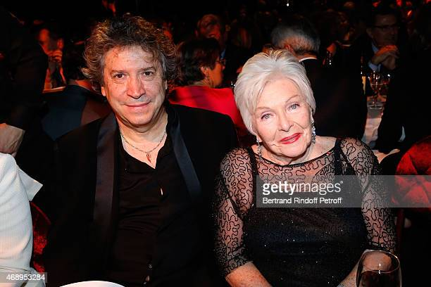 Creator and director of the show Franco Dragone and singer Line Renaud attend the 'Paris Merveilles' Lido New Revue Opening Gala on April 8 2015 in...