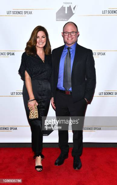 Creator and Executive Producer Christine Arena and Matthew Shambroom attend 'Let Science Speak' Tribeca screening at Spring Studio on September 20...