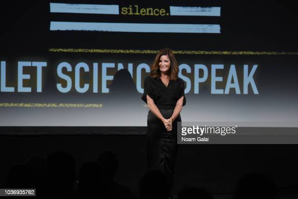 Creator and Executive Producer Christine Arena and Congressman Bill Foster participate in a panel discussion during 'Let Science Speak' Tribeca...