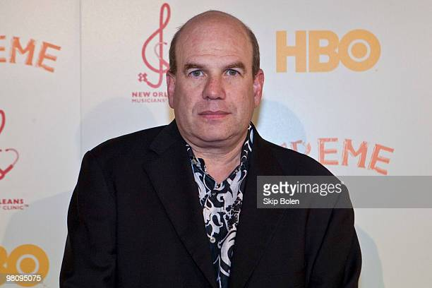 Creator and Executive Producer David Simon attends HBO's series Treme New Orleans fundraiser at Generations Hall on March 27 2010 in New Orleans...