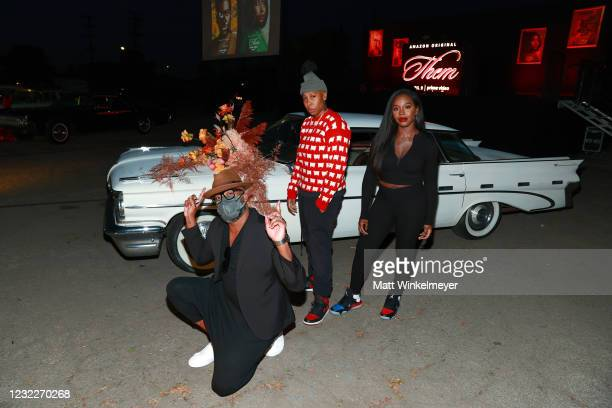 "Creator and Executive Producer Little Marvin, Executive Producer Lena Waithe, and Deborah Ayorinde attend Amazon Studios' ""Them"" Drive-in Special..."