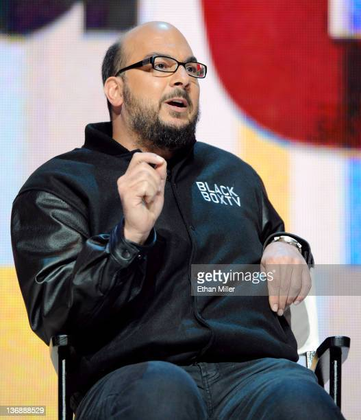 Creator and executive producer of the CSI television shows Anthony E Zuiker speaks during the Entertainment Matters keynote address at the 2012...