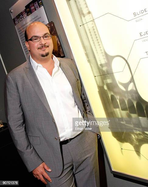 Creator and executive producer of the CSI television shows Anthony E Zuiker appears at an exhibit during the grand opening of the CSI The Experience...