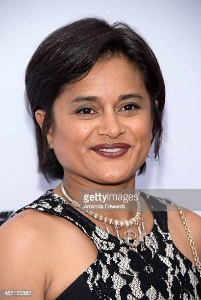 Creator and executive producer Veena Sud arrives at the Los Angeles premiere of Season 4 of the Netflix Original Series 'The Killing' at ArcLight...