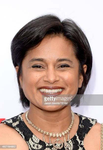 Creator and executive producer Veena Sud attends premiere of Netflix's 'The Killing' season 4 at ArcLight Cinemas on July 14 2014 in Hollywood...