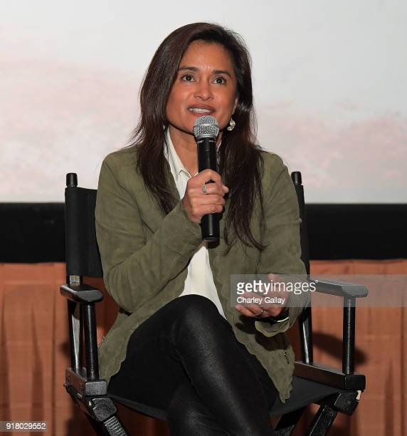 Creator and executive producer Veena Sud attends the Netflix and Color of Change special screening and QA for 'Seven Seconds' on February 13 2018 in...