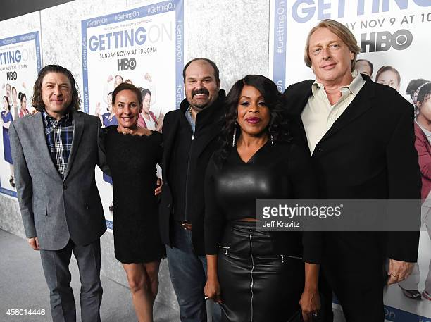 Creator and executive producer Will Scheffer actors Laurie Metcalf Mel Rodriguez and Niecy Nash and creator and executive producer Mark Olsen attend...