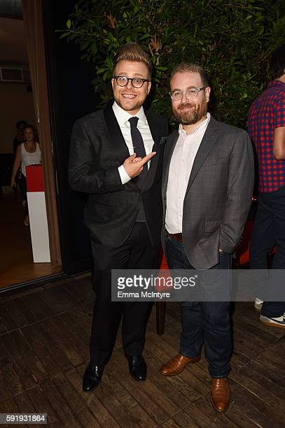 Creator and host Adam Conover and Sam Reich attend the reception for truTV's 'Adam Ruins Everything' at The Library at The Redbury on August 18 2016...
