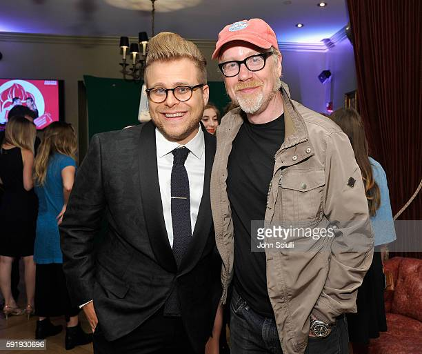 """Creator and host Adam Conover and tv personality Adam Savage attend truTV's """"Adam Ruins Everything"""" Premiere Screening Event on August 18 at The..."""