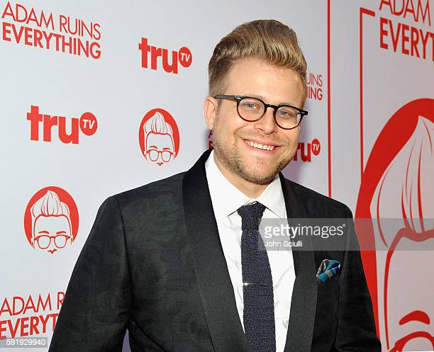 "Creator and host Adam Conover attends truTV's ""Adam Ruins Everything"" Premiere Screening Event on August 18 at The Redbury Hotel on August 18 2016 in..."