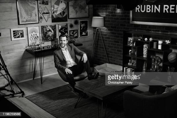 Creator and host of The Rubin Report Dave Rubin is photographed for Playboy Magazine on August 7 2018 in Los Angeles California