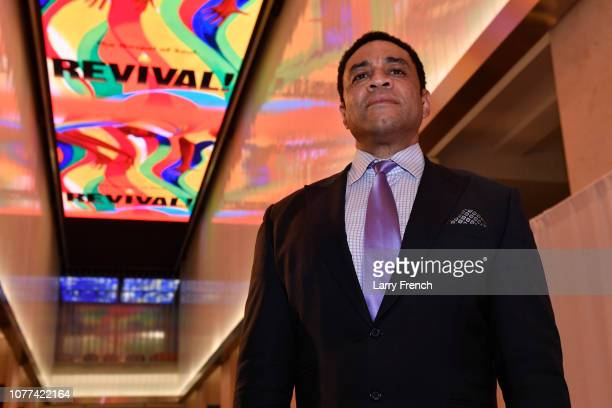 Creator and producer Harry Lennix is seen at the premiere of Harry Lennix's Film Revival!, a gospel musical based on the Book of John, at the Museum...