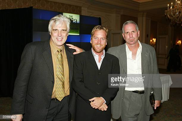 '24' creator Bob Cochran '24' star Kiefer Sutherland and '24' creator Joel Surnow at the 2002 Summer TCA Awards Ceremony held at the Ritz Carlton...