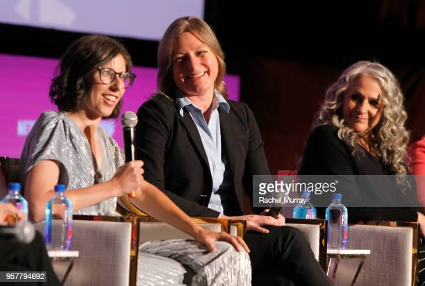 Creator Carly Mensch Netflix VP of Original Content Cindy Holland and Grace and Frankie Executive Producer Marta Kauffman attend the Rebels and Rule...