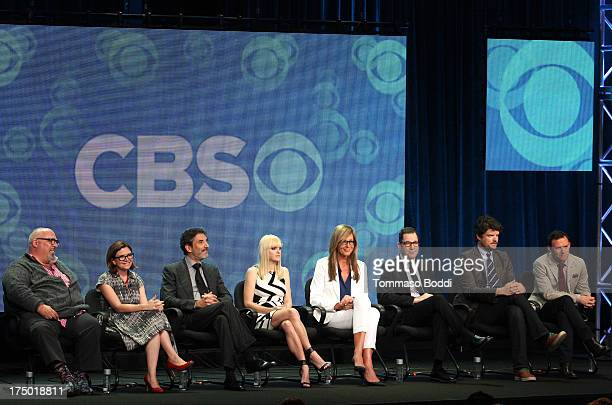 Creator Eddie Gorodetsky producer Gemma Baker creator Chuck Lorre actors Anna Faris Allison Janney French Stewart Matt Jones and Nate Corddry of the...