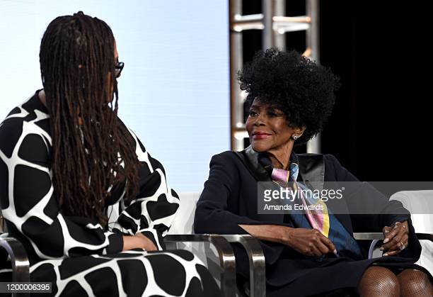 Creator Executive producer Ava DuVernay and Cicely Tyson of 'Cherish The Day' speak onstage during the OWN Oprah Winfrey Network portion of the...