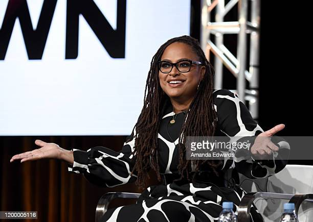 Creator Executive producer Ava DuVernay of 'Cherish The Day' speaks onstage during the OWN Oprah Winfrey Network portion of the Discovery Inc TCA...