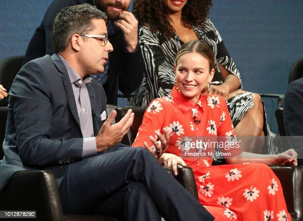 Creator/ Executive Producer D j Nash and actress Allison Miller of the television show 'A Million Little Things' speak during the Disney/ABC segment...