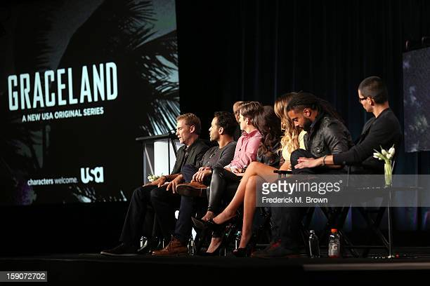 Creator/ Executive Producer Jeff Eastin actors Daniel Sunjata Aaron Tveit Vanessa Ferlito Serinda Swan Brandon Jay McLaren and Manny Montana speak...