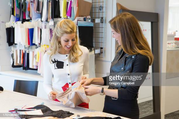 Creator founder and owner of clothing brand Spanx Sara Blakley is photographed with design director Tosha Hays for You Magazine on February 19 2013...
