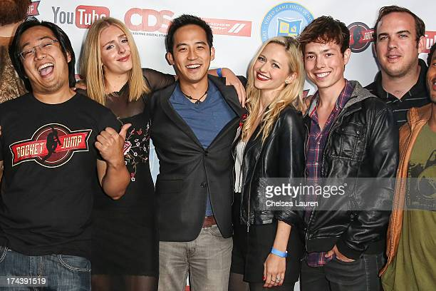 Creator Freddie Wong YouTube personalities Ellary Porterfield Jimmy Wong Johanna Braddy and Josh Blaylock and director/writer Matt Arnold attend the...