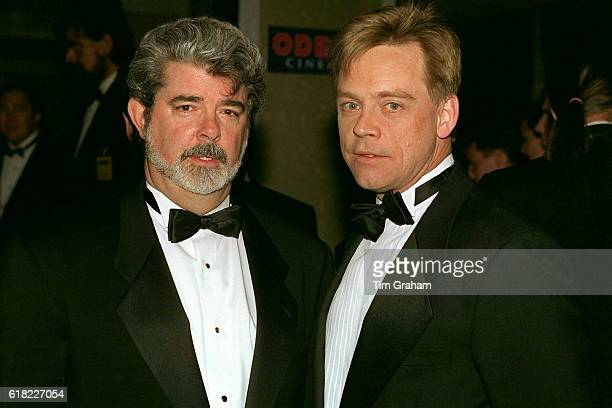 Creator George Lucas and actor Mark Hamill who played Luke Skywalker at 'Star Wars' Premiere