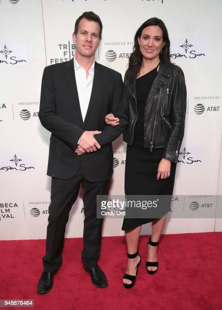Creator Jonathan Nolan and Lisa Joy attend the premiere of Westworld during the 2018 Tribeca Film Festival at BMCC Tribeca PAC on April 19 2018 in...