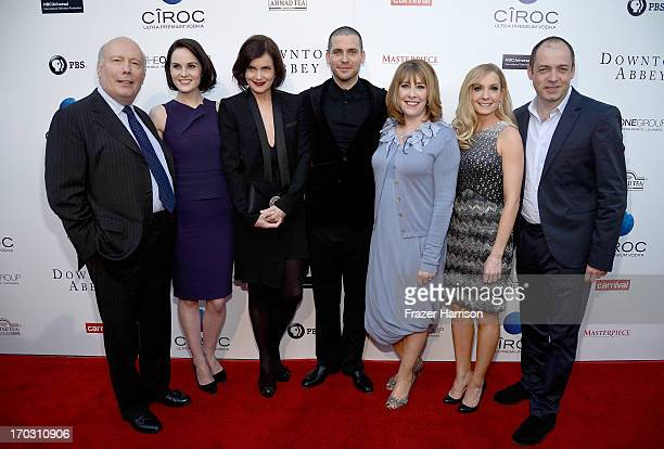 Creator Julian Fellowes actors Michelle Dockery Elizabeth McGovern Rob JamesCollier Phyllis Logan Joanne Froggatt and executive producer Gareth Neame...